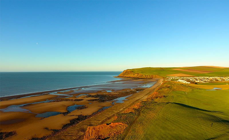 St Bees from golf course