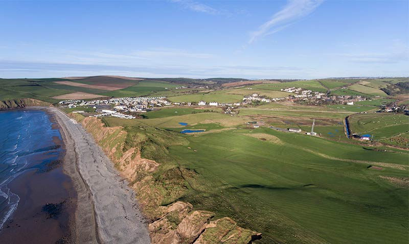 St Bees golf course from above